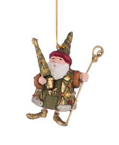 Играчка Дядо Коледа в зелени дрешки