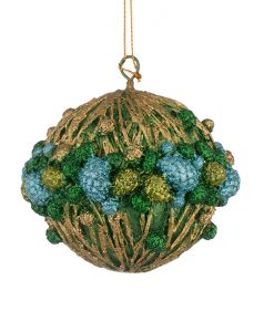 Играчка за елха - топче с шишарки