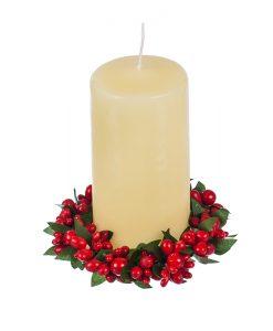 Коледен венец за свещ
