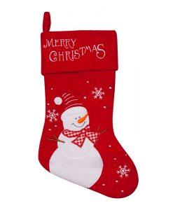 Коледен чорап снежно човече.