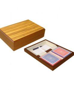 Дървена кутия с покер карти Модиано