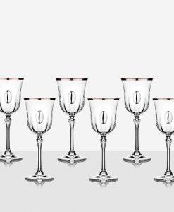 Чаши за вино с плочка 6 бр. Ludovica