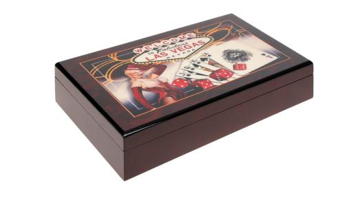Кутия Las Vegas с 300 покер чипа
