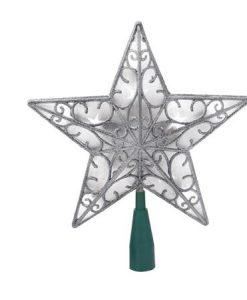 Светеща коледна звезда в сребро