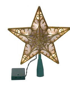 Светеща коледна звезда в злато
