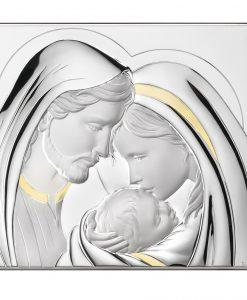 Посребрена икона Св.Семейство