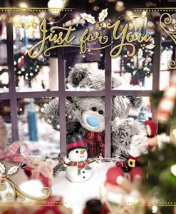 3D Картичка Коледна BEAR IN WINDOW XMAS