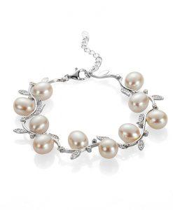Гривна бели перли