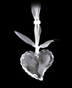 Играчка за елха сърце, бяло