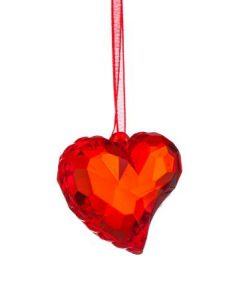 Висулка за елха червено сърце