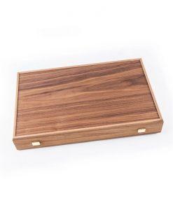 Ръчно инкрустирана дървена табла Manopoulos, цвят: американски орех и черен дъб