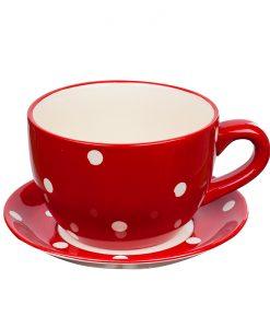 Саксия чаша червена