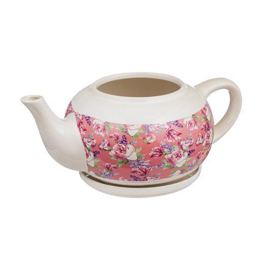 Саксия чайник рози