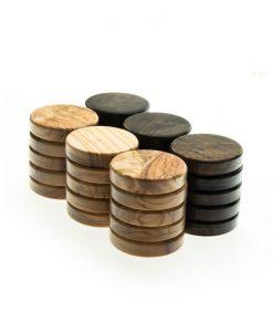 Дървени пулове за табла от маслиново дърво