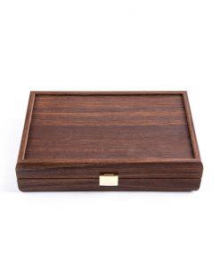 Карти за игра Manopoulos в дървена кутия, тъмен орех