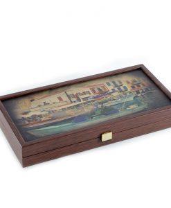 """Табла Manopoulos """"Пристанище"""", 48 x 48 см, голям размер"""