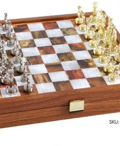Луксозен шах комплект Manopoulos, 27 х 27 см.