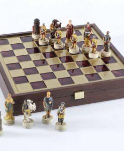 "Луксозен шах комплект Manopoulos ""Троянска война"", 34 х 34 см."