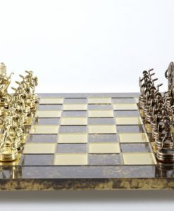 Луксозен шах комплект Manopoulos - Гръцка митология 36 х 36 см. кафяв