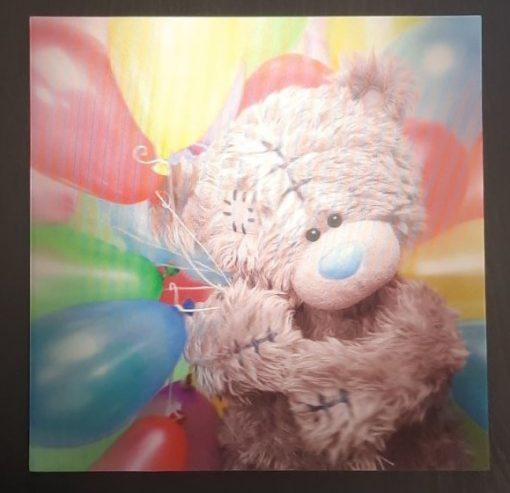 3D Картичка мече Me to You с балони