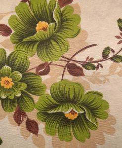 Покривка с цветя, зелени