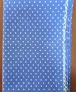 Покривка на точки синя