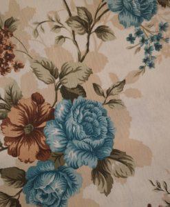 Покривка с цветя, сини