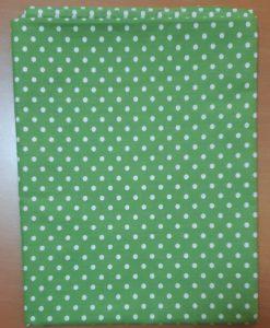 Покривка на точки зелена