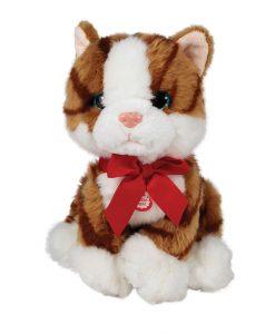 Коте с червена панделка