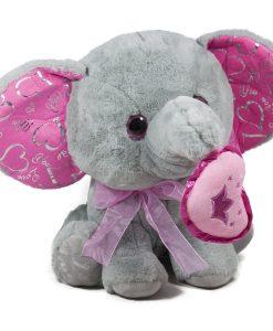 Слон с розово сърце
