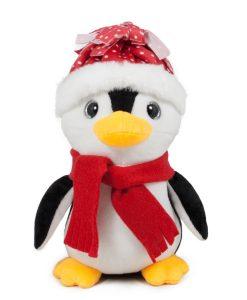 Плюшен пингвин с шапка и шал