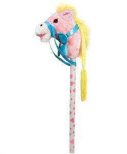 Розов кон на пръчка