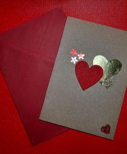 Картичка Две сърца