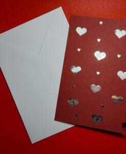 Картичка Сърца