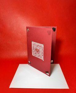 Картичка Сърце в квадрат