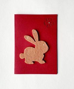 Картичка Великденско зайче